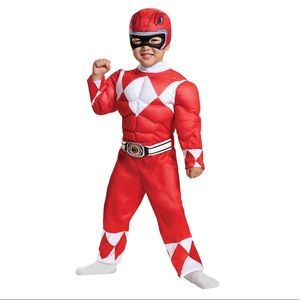 Red Power Ranger Muscle Toddler Halloween Costume